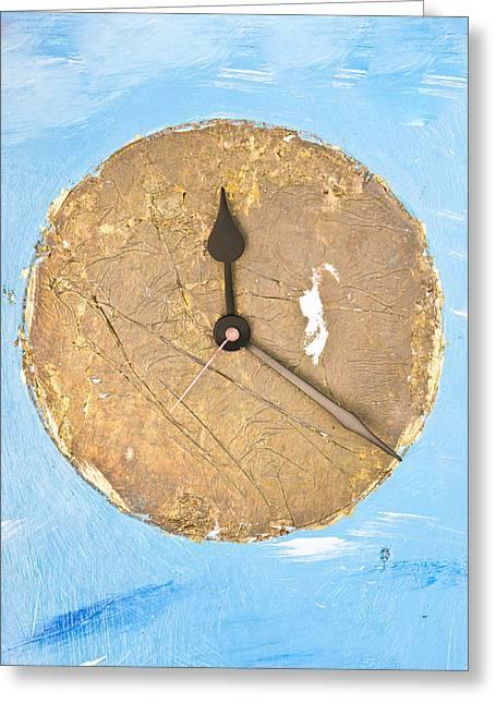 Clock Greeting Card by Tom Gowanlock