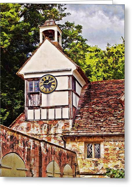 Clock Tower - Lacock Abbey Greeting Card