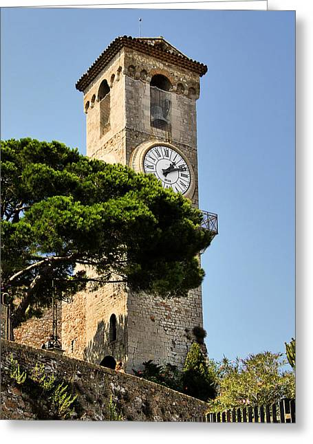 Clock Tower - Cannes - France Greeting Card