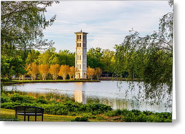Clock Tower Greeting Card by Deke Bolte