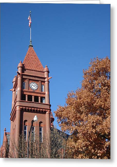 Clock Tower Greeting Card by J L Zarek