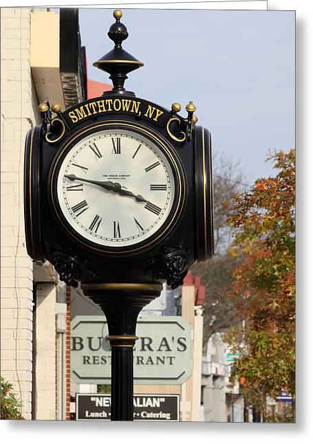 Clock Tower Smithtown New York Greeting Card