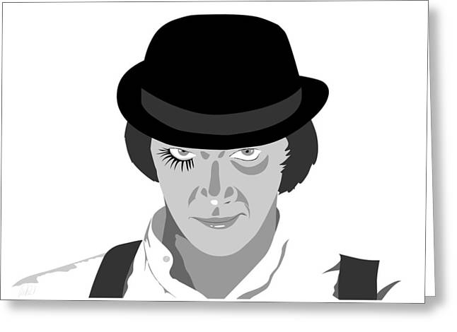 Clock Work Orange Malcolm Mcdowell Greeting Card by Paul Dunkel