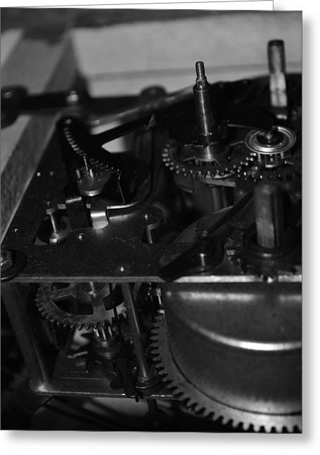 Clocks Black And White Greeting Card
