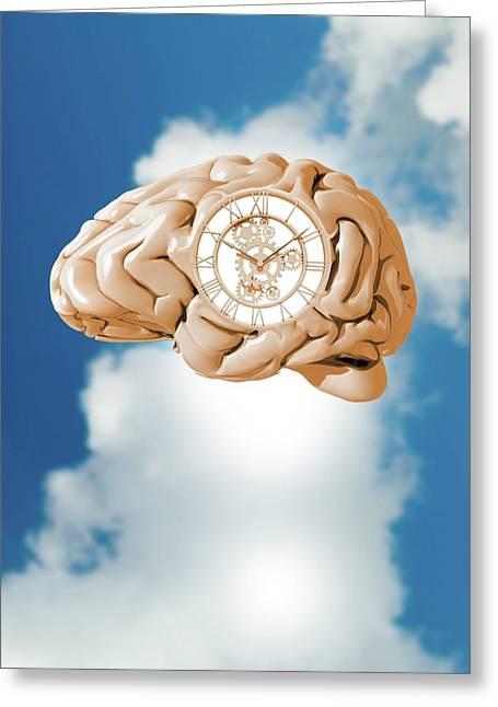 Clockwork Brain Greeting Card