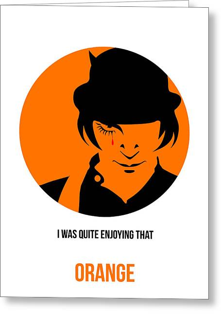 Clockwork Orange Poster 1 Greeting Card by Naxart Studio