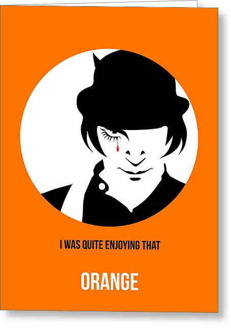 Clockwork Orange Poster 2 Greeting Card by Naxart Studio