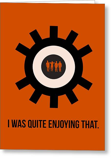 Clockwork Poster Greeting Card by Naxart Studio
