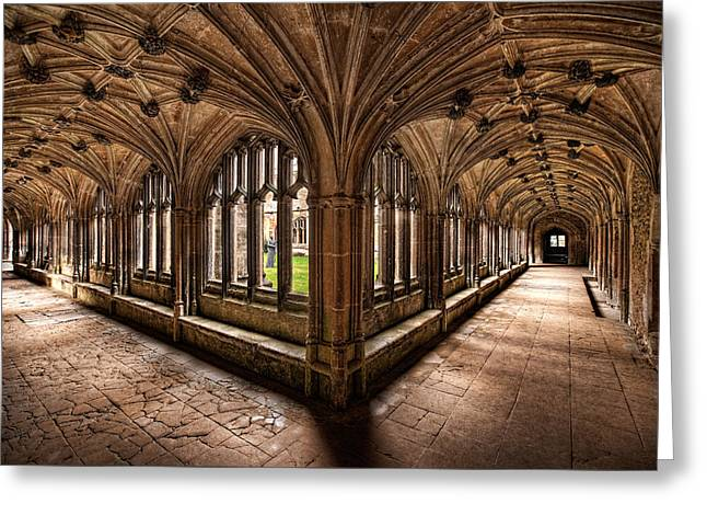 Cloisters At Lacock Abbey Greeting Card