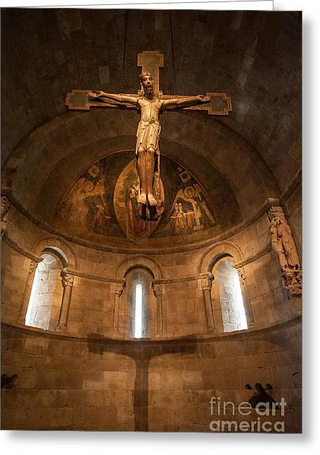 Cloisters Crucifixion Greeting Card
