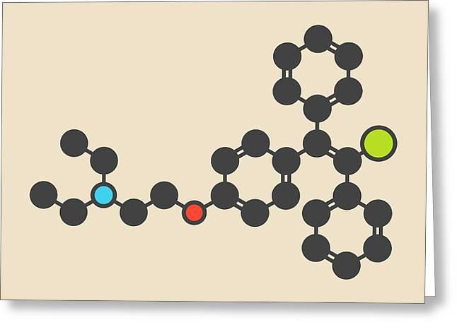 Clomifene Drug Molecule Greeting Card by Molekuul