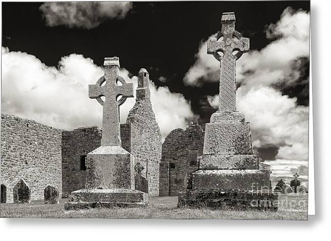 Clonmacnoise Greeting Card by Juergen Klust