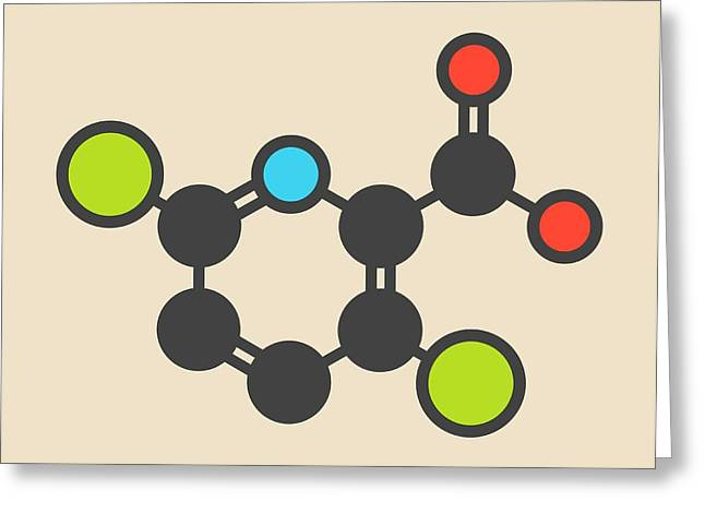 Clopyralid Herbicide Molecule Greeting Card by Molekuul