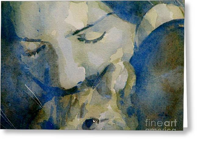Cat Portraits Greeting Cards - Close my eyes Lullaby me to sleep Greeting Card by Paul Lovering