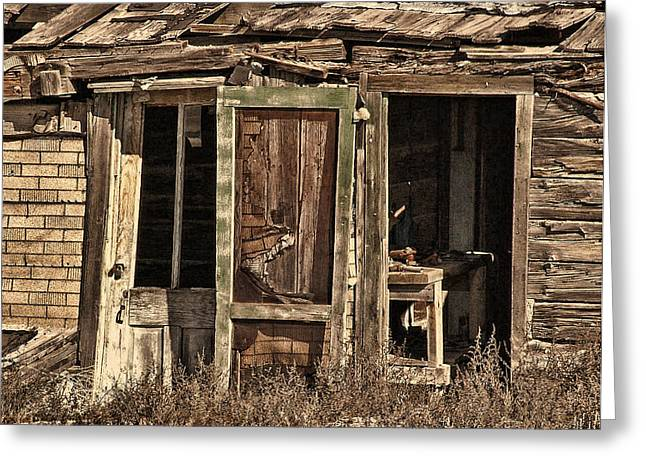 Close The Door Behind You Greeting Card by Ken Smith