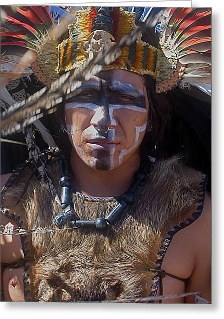 Close-up Aztec Performer O'odham Tash Casa Grande Arizona 2006 Greeting Card