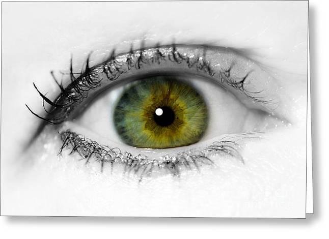 Close Up Eye Greeting Card