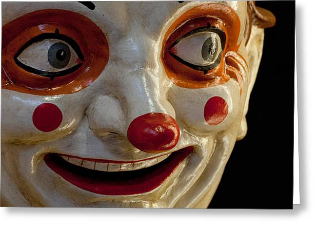 Close-up Of A Clown At A Shop, El Greeting Card