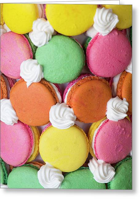 Close Up Of A Macaron Tower Greeting Card