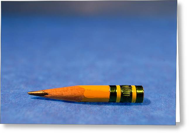 Close-up Of A Pencil Nub Greeting Card by Panoramic Images