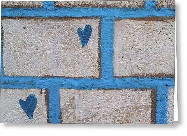 Close-up Of Brick Wall, Safed Zfat Greeting Card