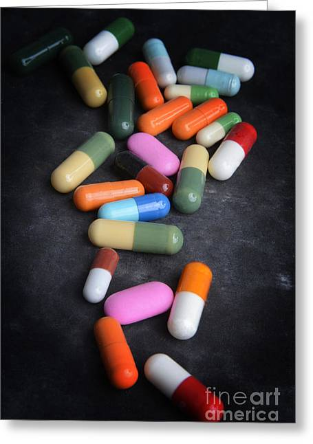 Close-up Of Capsules Greeting Card