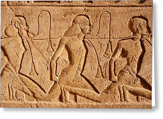 Close-up Of Carvings On A Wall, Great Greeting Card by Panoramic Images