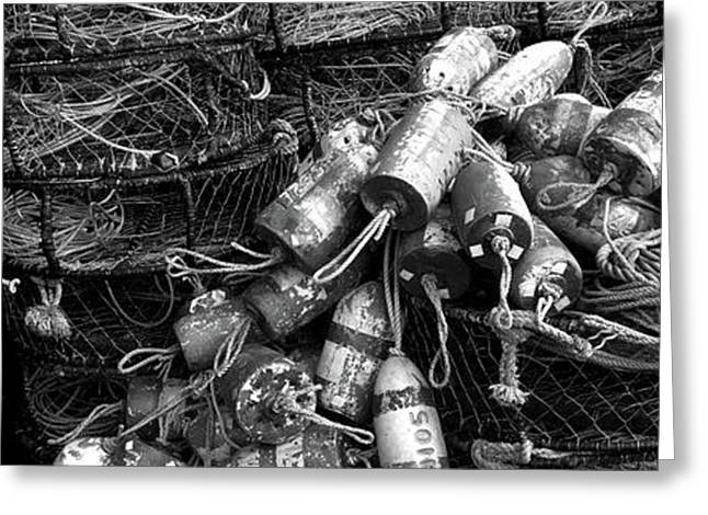 Close-up Of Crab Pots, Humboldt County Greeting Card