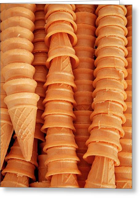 Close Up Of Ice Cream Cones, Ouray Greeting Card by Julien Mcroberts
