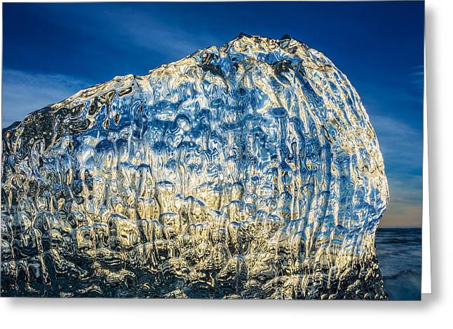 Close Up Of Ice. Ice Formations Come Greeting Card by Panoramic Images