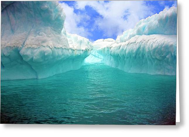 Close Up Of Iceberg With Fluted Greeting Card