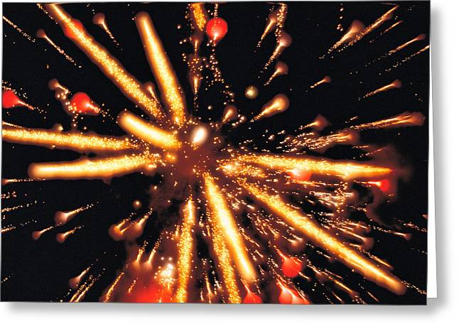Close Up Of Ignited Fireworks Greeting Card