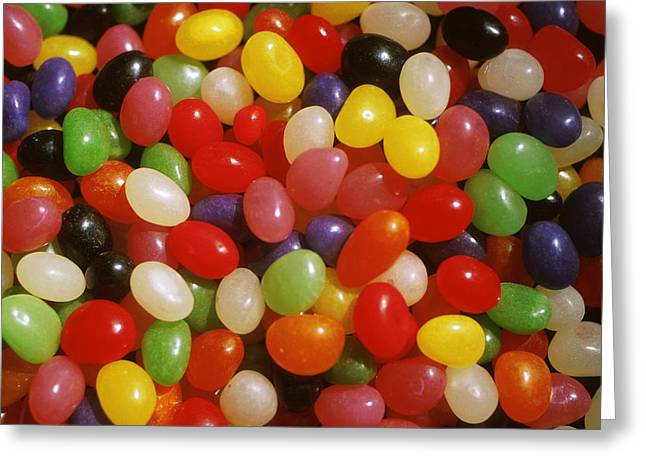 Close Up Of Jelly Beans Greeting Card by Anonymous