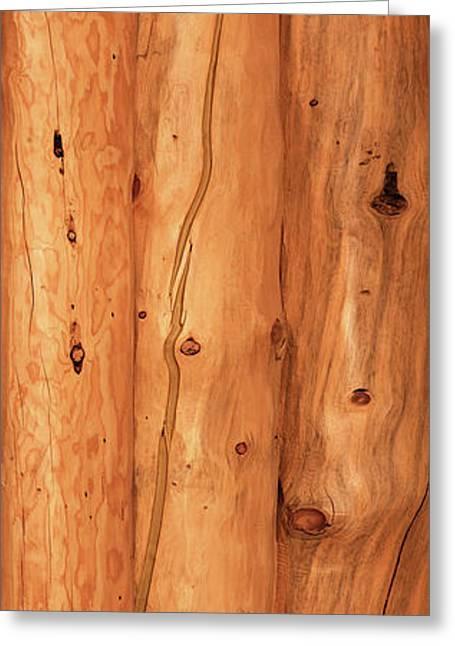 Close-up Of Log House, Oregon, Usa Greeting Card