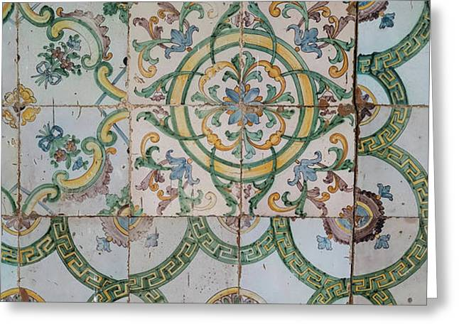 Close-up Of Mosaic Tiles In A Mosque Greeting Card