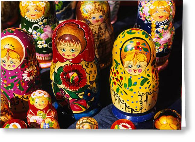 Close-up Of Russian Nesting Dolls Greeting Card by Panoramic Images