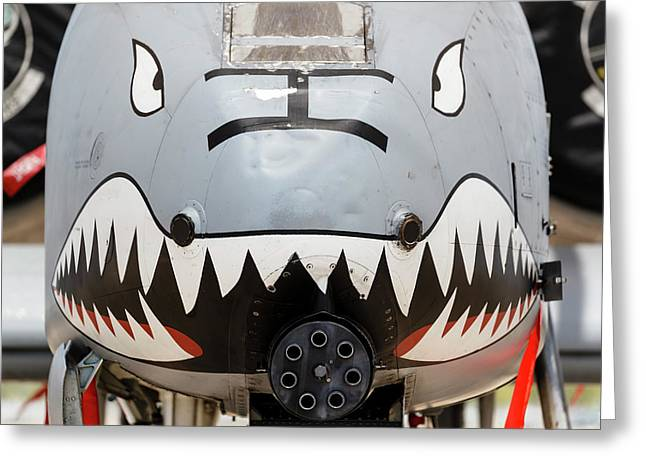 Close-up Of The Gau-8 Avenger Gun On An Greeting Card by Rob Edgcumbe