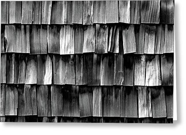 Close-up Of Wooden Shingle, La Conner Greeting Card by Panoramic Images