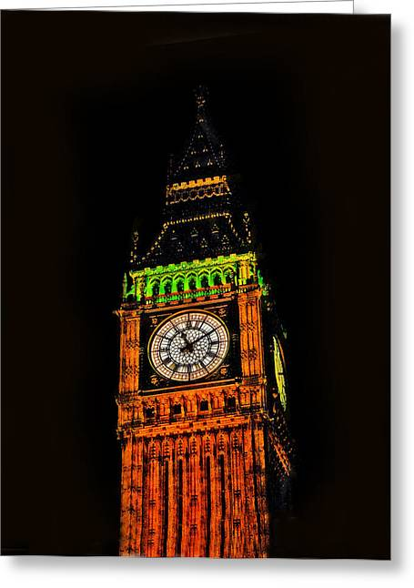 Close View Of Londons Big Ben Greeting Card by Doc Braham