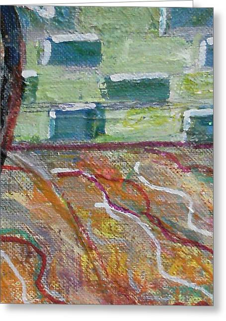 Close View Of One Of My Paintings Greeting Card by Anne-Elizabeth Whiteway