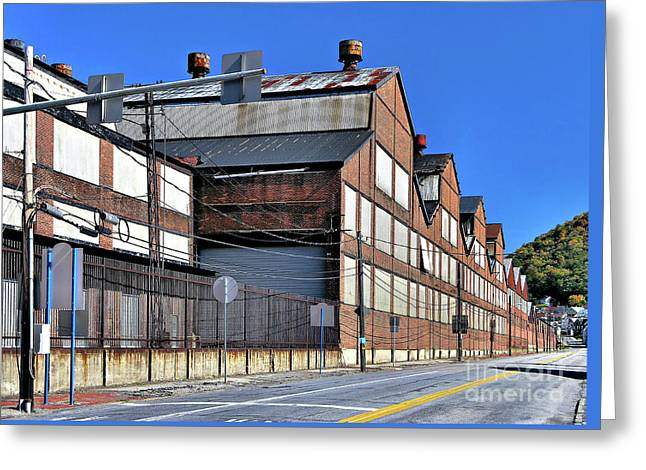 Closed Steel Mill Greeting Card