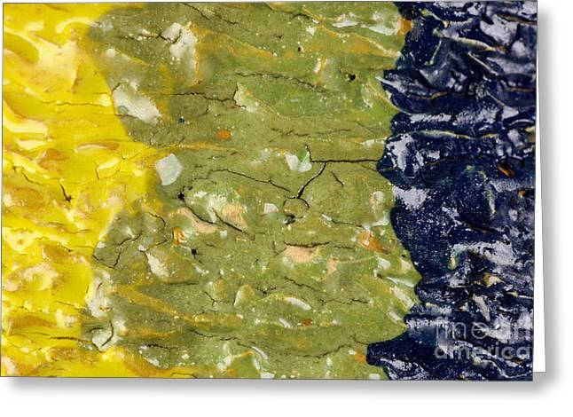 Closeup Of Glazed Ceramics Greeting Card by Kerstin Ivarsson