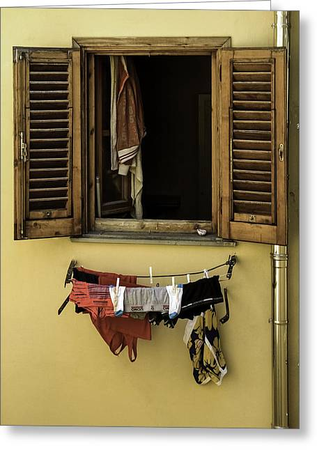Clothes Dryer Greeting Card