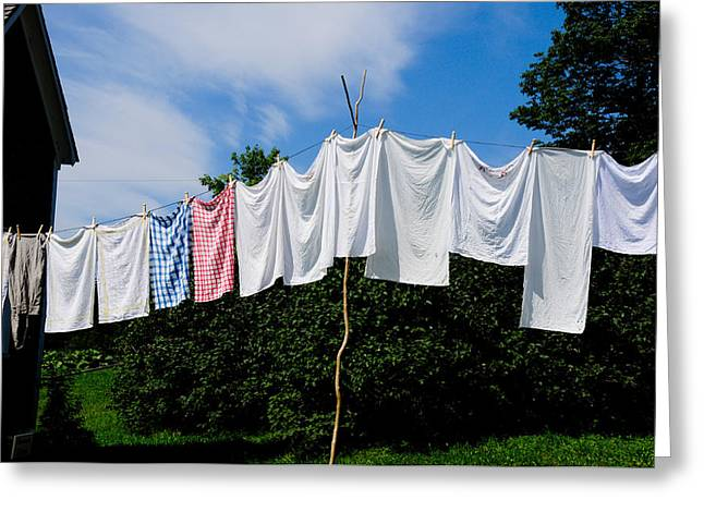 Clothes Line Greeting Card