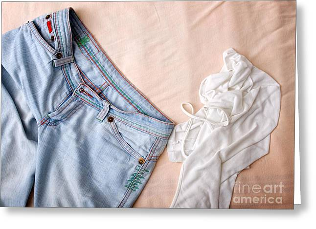 Clothes Mess Greeting Card