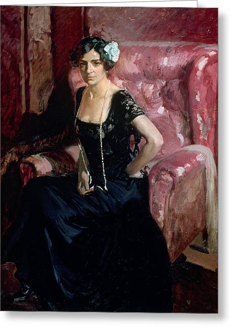 Clotilde In Evening Dress Greeting Card by Celestial Images