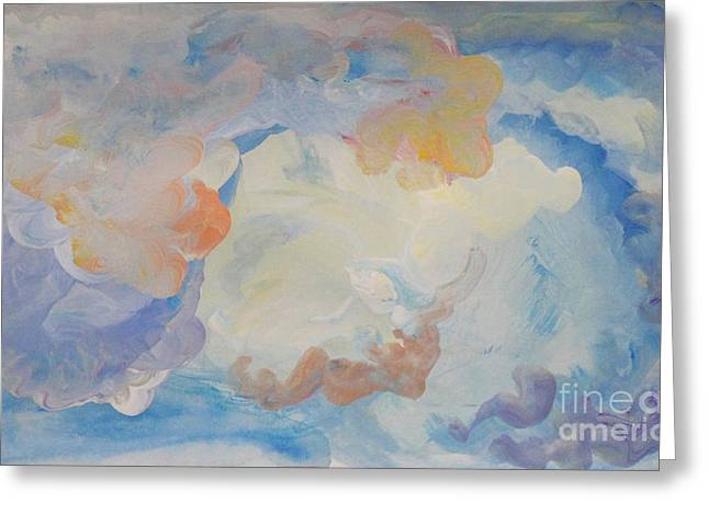 Cloud Abstract 2 Greeting Card by Anne Cameron Cutri