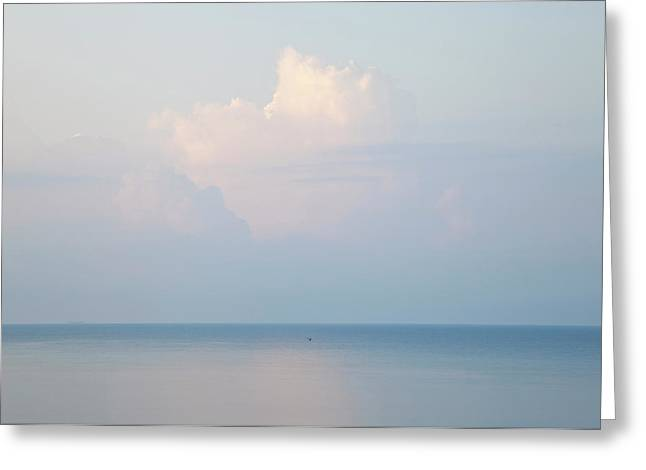 Cloud And Seascape, Rhodes, Greece Greeting Card by Peter Adams