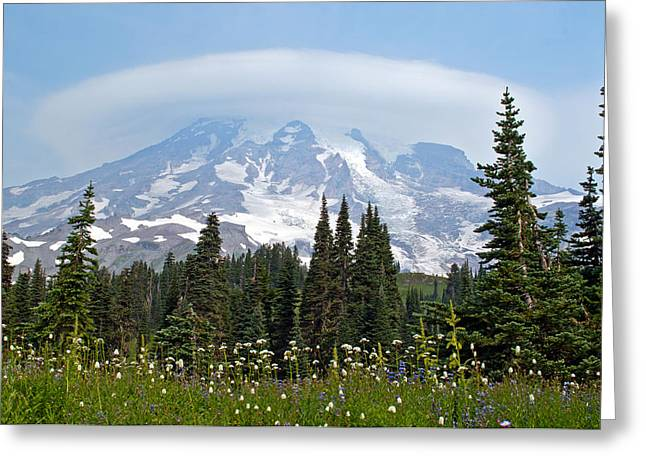 Cloud Capped Rainier Greeting Card