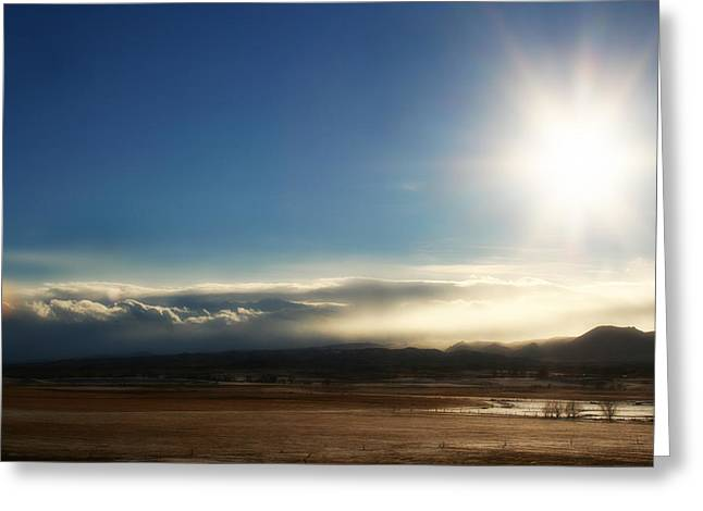 Cloud Cascades Greeting Card